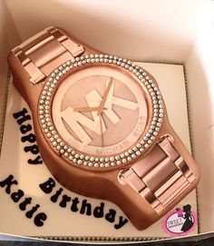 Michael kors watch cake