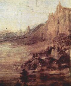 Leonardo da Vinci in the Uffizi Gallery Landscape Drawings, Landscape Paintings, Landscapes, Maximilian I, Baptism Of Christ, Chinese Landscape, Classic Paintings, Italian Renaissance, Italian Artist
