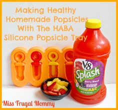 Making Healthy Homemade Popsicles With The HABA Silicone Popsicle Tray