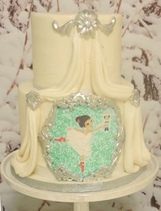 Winter Nutcracker birthday party cake! See more party planning ideas at CatchMyParty.com!