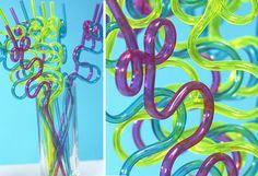 Swirly straws for decoration