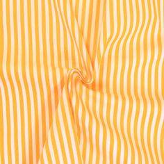 100% Baumwolle Streifen Sonnengelb-Weiss 13891