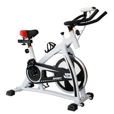 6615b31df6d Indoor Cycling Bike   Bike Trainer - White (Exercise Bikes)