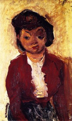 chaïm soutine(1894-1943), young english girl, c. 1934. oil on cardboard, 56 x 34 cm. private collection http://www.the-athenaeum.org/art/detail.php?ID=56752