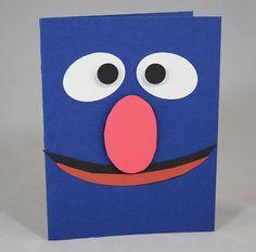 Grover Birthday Card or Invitation Sesame Street by PopperAndMimi, $4.00