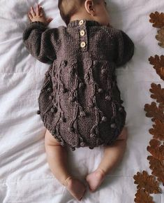 Knitting Terms, Knitting For Kids, Baby Knitting Patterns, Knitted Baby Clothes, Knitted Romper, Baby Knits, Crochet Baby, Knit Crochet, Knit For Baby
