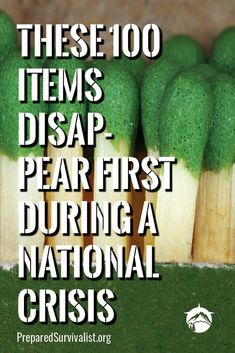 When a disaster is about to strike it is a good idea to be ready. These 100 items will disappear first during a crisis. check them out and stock up on them before it is too late! Off Grid Survival, Survival Shelter, Survival Skills, Survival Essentials, Doomsday Preppers, Emergency Preparedness Kit, Homestead Survival, Energy Technology, Safety Tips