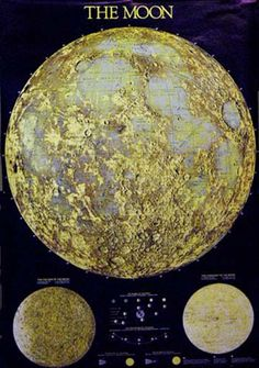 A beautiful map poster of the Lunar Surface! It dispels the myth that the Moon is made of cheese :) Perfect for classrooms and astronomers! Fully licensed. Ships fast. 27x39 inches. Need Poster Mounts