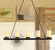 pottery barn, Veranda Linear Chandelier