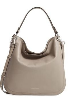 Rebecca Minkoff Convertible Leather Hobo Bag Rebecca Minkoff Handbags, Hobo Handbags, Anniversary Sale, Hobo Bag, Pebbled Leather, Convertible, Shoulder Strap, Grey, Tennis