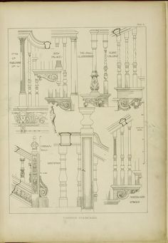 Staircase Handrail, Grand Staircase, Stairs, Staircases, Architecture Drawings, Architecture Details, Interior Architecture, English Interior, Stair Detail