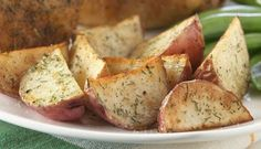 Roasted Potatoes are an easy and delicious side dish for your family dinners!   #HealthyTip:: Without adding the extra fats like butter and deep frying, baked potatoes are actually low calorie and their skin is rich in fiber.