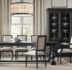 Our table and chairs 17th C. Monastery Rectangular Dining Tables | Rectangular Dining Tables | Restoration Hardware