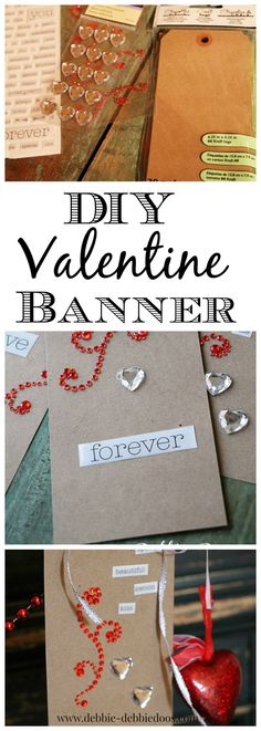 How to make your own DIY Valentine banner in just a few minutes for just a few bucks! @michaelsstores
