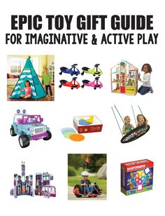 Gift ideas for kids | Epic Toy Gift Guide for Imaginative & Active Play | www.thirtyhandmadedays.com
