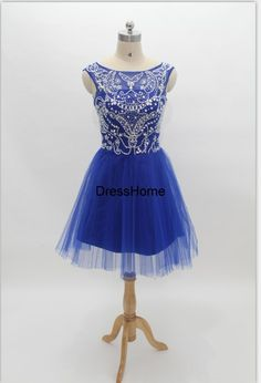 Homecoming Dress Royal Blue Homecoming Dress / Short by DressHome, $159.99