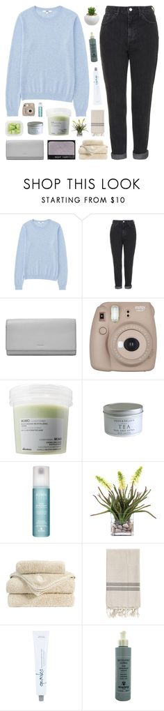 """""""4000 FOLLOWERS!"""" by nxstalgia ❤ liked on Polyvore featuring Uniqlo, Topshop, FOSSIL, NARS Cosmetics, Fujifilm, Davines, Alterna, INC International Concepts, Christy and Homage"""