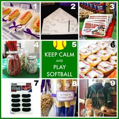 Softball team party ideas.