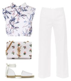 """""""try to work it out"""" by dias123 ❤ liked on Polyvore featuring may, Piazza Sempione, Topshop and Yves Saint Laurent"""