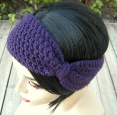 Crocheted Flapper Style Bow Earwarmer