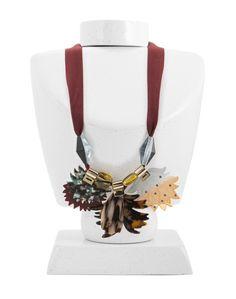 REBAJAS FW15 Collar flores acetato MULTICOLOR