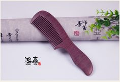 Natural purple Comb  Violet Wood Handmade Handle Combs Straight Pocket Wooden Beard Hair Combs Custom