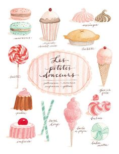 """les petites douceurs"" - French expression for ""little sweet treats"""