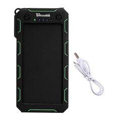 Tollcuudda External Battery Power Bank 13000mAH Solar LED Portable USB Charger Mobile Powerbank Cargador For iphone Xiaomi Mi
