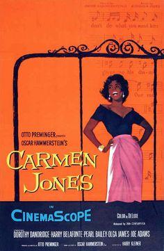1954 movie posters | 1954 Carmen Jones