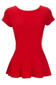red peplum top (match with pencil skirt or slim trousers) by kellie