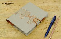 Progettazione Planner / Organizer - elefante (2 colori / ricaricabili / Handmade / cotone filato) on Etsy, 18,85€