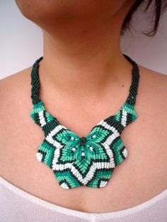 Mandala Macrame Necklace