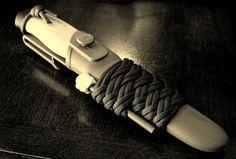 Mora knife paracord sheath wrap with firesteel by Stormdrane, via Flickr