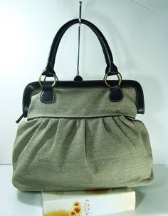Handbag, Diaper bag, women bag, Olive Green Sackcloth Handbag. $45.00, via Etsy.