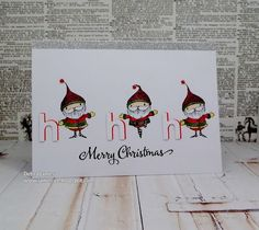 Debra James - Emerson and Emmett Ho Ho Ho Card