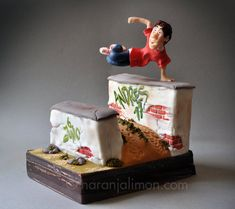 Parkour, cuestión de técnica y creatividad... una tarta algo diferente :)