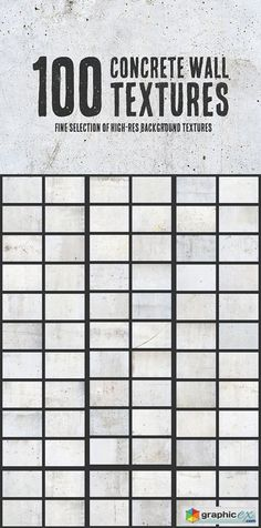 100 Concrete Wall Textures Bundle  stock images