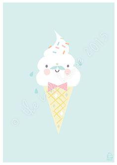 GELATO PRINT ice-cream sorbet illustration by The Ink House | Liz Alpass