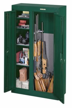 10-gun Double Door Steel Home Security Weapons Storage Ammo Pistols Cabinet Safe