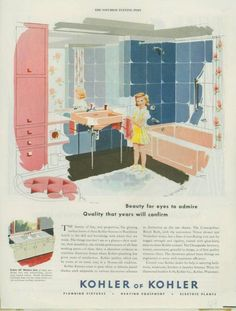 COZY HOME CHRONICLES: The 1950's Bathroom: Evoking a Rainbow of Emotion