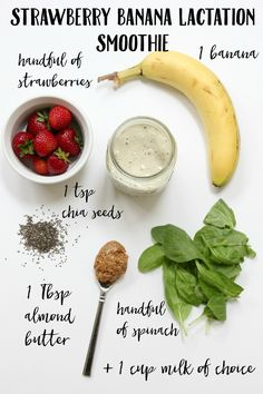 Bookmark this! A Strawberry Banana Protein Smoothie for all the exclusively pumping mama's out there!