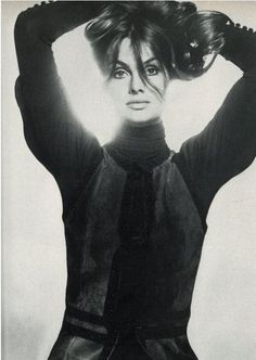 Jean Shrimpton photographed by David Bailey for Vogue UK, November 1970.