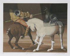 La Batalla from the San Jorge y el dragon Series Dragon Series, David, American Art, Horses, Animals, Saint George, Artworks, Dragons, Battle