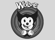 T-shirt for fans of Looney Tunes, Wolverine, and that OTHER comic book company (marvel). Shirt is funny though.