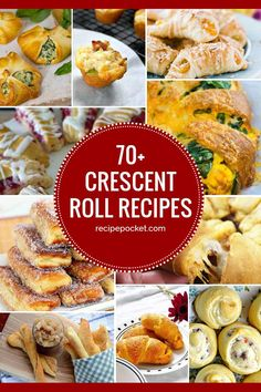 Easy crescent roll recipes for dessert, dinner and appetizers. These crescent roll dough recipes make bread baking easy for beginners. desserts with crescent rolls Crescent Roll Recipes - Easy Snacks, Dinner & Dessert Crescent Dough Sheet Recipes, Pillsbury Crescent Roll Recipes, Recipes Using Crescent Rolls, Crescent Roll Appetizers, Pilsbury Recipes, Pillsbury Dough, Pillsbury Croissant Dough Recipe, Stuffed Crescent Rolls, Chicken Crescent Rolls