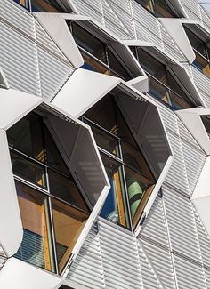 Coventry University love these window canopies #architecture #windows #geomtric