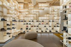 #Woodlovers wood lovers The simplicity of a ‪#‎Wood‬ grid crafted in a sophisticated design. Kengo Kuma designs the new Camper store in Milan.