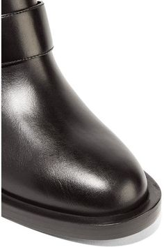 Nicholas Kirkwood - Casati Embellished Leather Biker Boots - Black - IT36.5