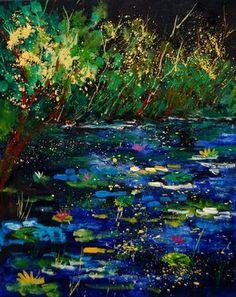 """Saatchi Online Artist Pol Ledent; Painting, """"pond 459030"""" #art"""