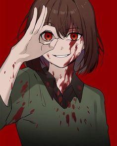 grafika art, illustration, and rpg Undertale Comic, Undertale Fanart, Anime Art Girl, Manga Girl, Anime Manga, Dark Anime, Character Art, Character Design, Yandere Girl